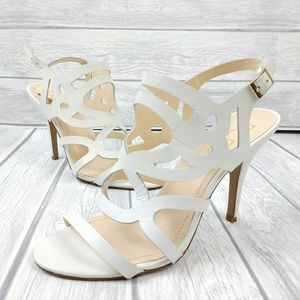 Gorgeous BCBG leather strappy heels 38
